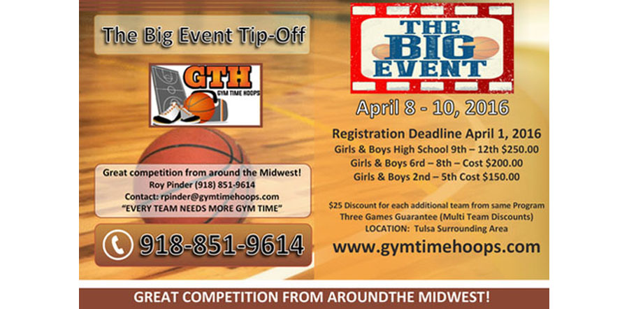Athletes First The Big Event Tip-Off April 8-10, 2016