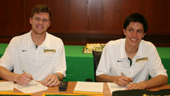 Athletes First Matt Christiansen and Joe Edmonds sign letters of intent to attend The University of San Francisco