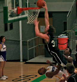 Matt Christiansen brought the crowd to its feet with this dunk Saturday night.