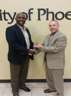Alumni Community Service Award given to Dr. Roy Pinder